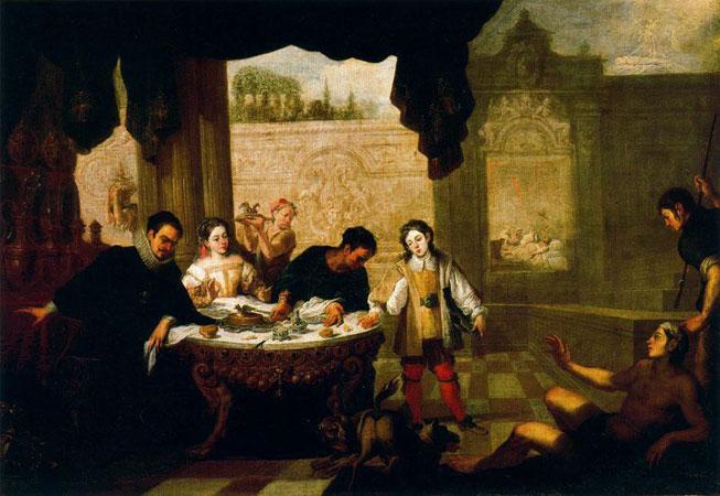 El rico Epulón y el pobre Lázaro por Juan de Sevilla