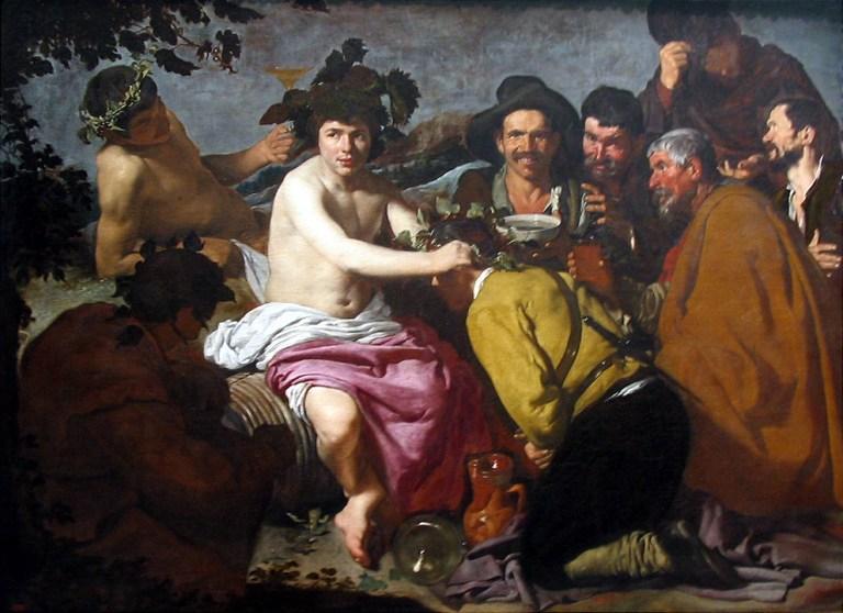 Los borrachos, o el triunfo de Baco por Diego de Velázquez