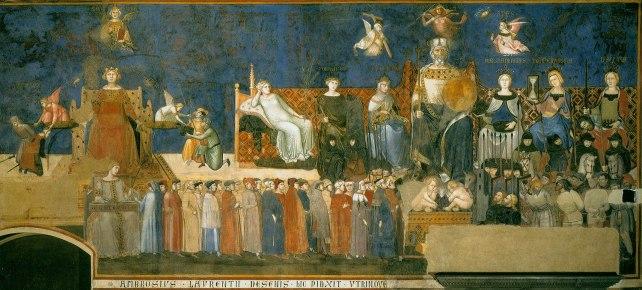 Alegoría del buen gobierno por Ambrogio Lorenzetti