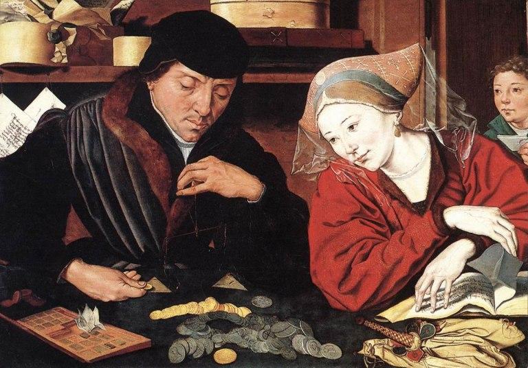 El cambista y su mujer por Quentin Matsys