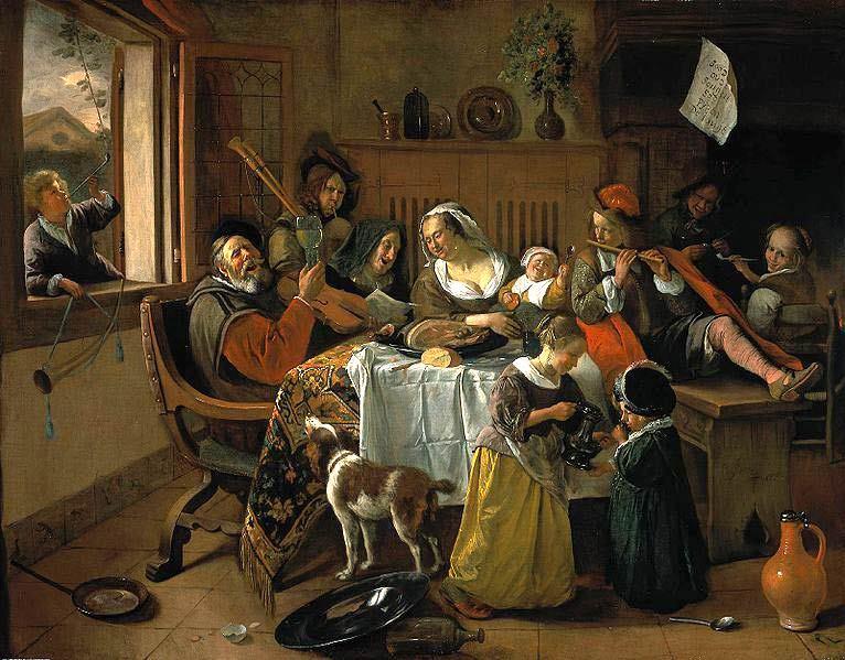La familia feliz por Jan Havicksz Steen