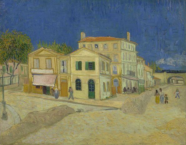 La casa amarilla por Vincent van Gogh