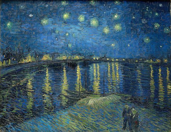 Noche estrellada sobre el Ródano por Vincent van Gogh